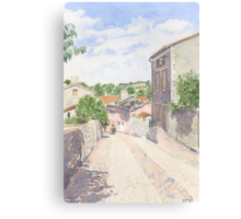 Down the Barbican Ramp, Montbron, France Canvas Print