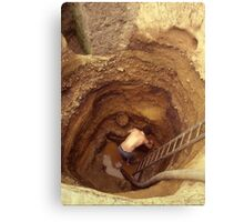 Down in the Hole Canvas Print