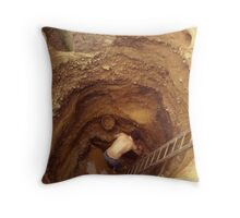 Down in the Hole Throw Pillow