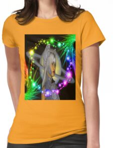 Saturn Rising Womens Fitted T-Shirt