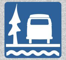 VW Bay Window Bus Camping One Piece - Long Sleeve