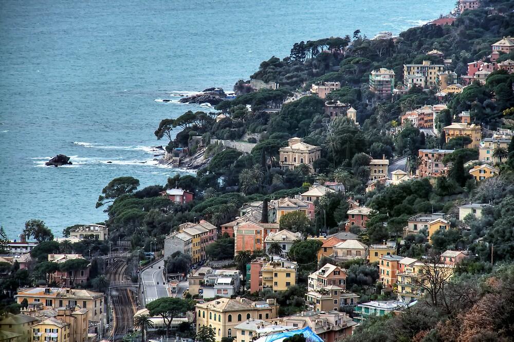 liguria coast by oreundici