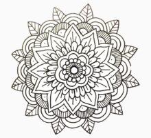 Mandala: White/Black  One Piece - Short Sleeve