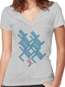 Isometric Tee Women's Fitted V-Neck T-Shirt