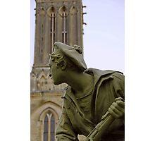 World War 1 memorial, Villiers Sur Mer, France Photographic Print