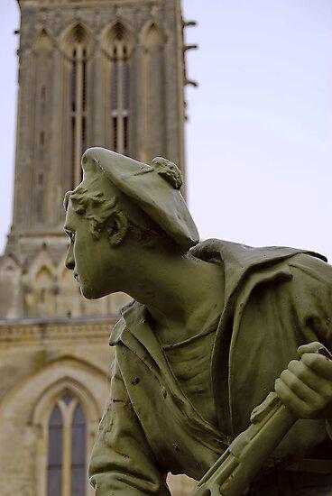 World War 1 memorial, Villiers Sur Mer, France by David Carton