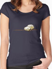 VW Vintage Beetle Women's Fitted Scoop T-Shirt