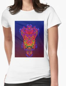 Reflection Abstract Womens Fitted T-Shirt