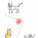 cats playing by Mavri  Gata