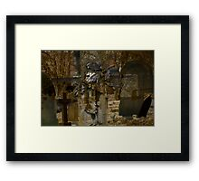 Cross and Church Yard Montage Framed Print