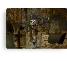 Cross and Church Yard Montage Canvas Print