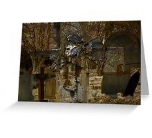 Cross and Church Yard Montage Greeting Card