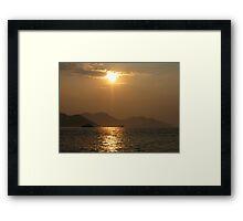 Sunset home Framed Print
