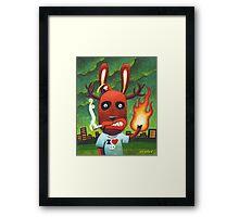 Bad Day at Pooh corner: Color Framed Print
