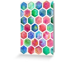 Hand Painted Watercolor Honeycomb Pattern Greeting Card