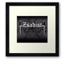 Zsadist - [ the Black Dagger Brotherhood ] Framed Print