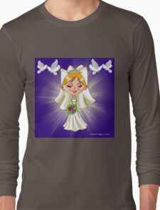Wedding Bride and Doves Long Sleeve T-Shirt