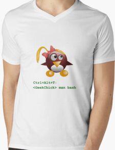 Geek Chick Mens V-Neck T-Shirt