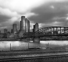 City - Pittsburg, PA - Smithfield Bridge  by Mike  Savad