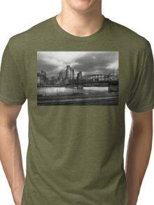 City - Pittsburg, PA - Smithfield Bridge  Tri-blend T-Shirt