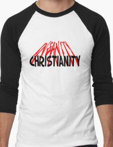 CHRISTIANITY / INSANITY (Light background) Men's Baseball ¾ T-Shirt