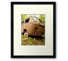 Used & Abused VW Bus Framed Print