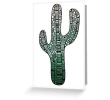 Cactus: Teal Greeting Card