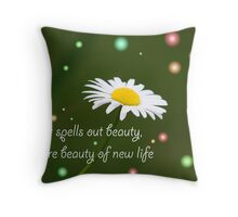 Easter Spells Out Beauty Throw Pillow