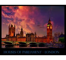 Houses of Parliament - London Photographic Print
