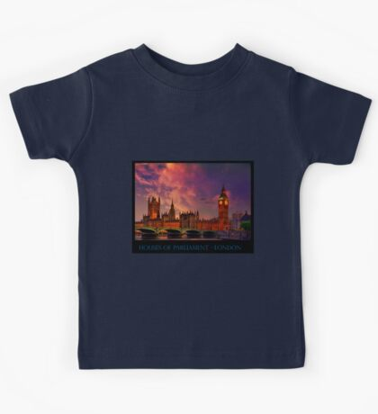 Houses of Parliament - London Kids Tee
