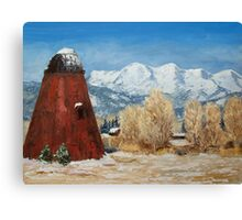 Wigwam Burner Pine Valley Oregon Canvas Print