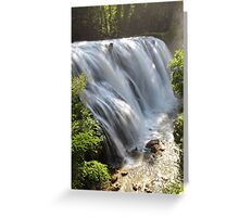The waterfalls Greeting Card
