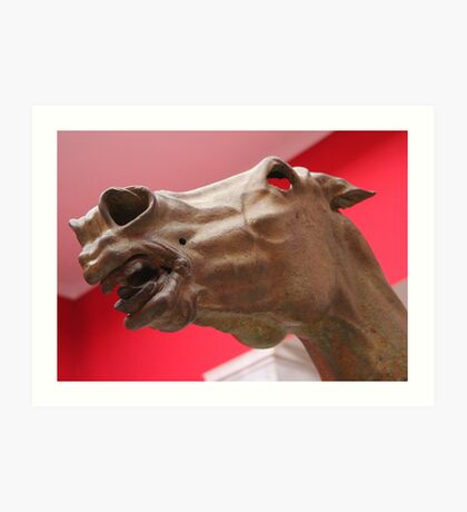 Horse Head Statue Art Print