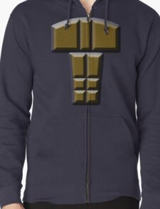 buttons Zipped Hoodie