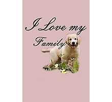 I Love My Dog Family Photographic Print