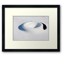 SNOW TIRE SCULPTURE Framed Print