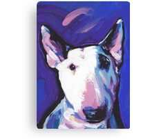 Bull Terrier Dog Bright colorful pop dog art Canvas Print
