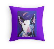 Bull Terrier Dog Bright colorful pop dog art Throw Pillow