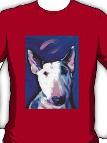 Bull Terrier Dog Bright colorful pop dog art T-Shirt