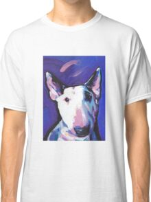 Bull Terrier Dog Bright colorful pop dog art Classic T-Shirt