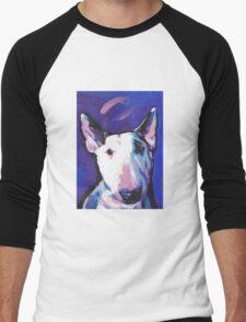 Bull Terrier Dog Bright colorful pop dog art Men's Baseball ¾ T-Shirt