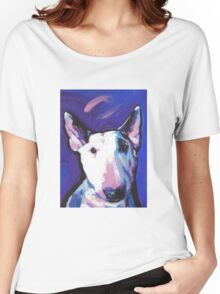 Bull Terrier Dog Bright colorful pop dog art Women's Relaxed Fit T-Shirt