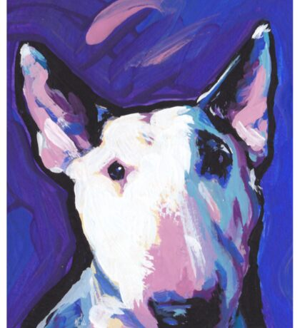 Bull Terrier Dog Bright colorful pop dog art Sticker