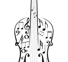 Violin with Notes by AnnArtshock