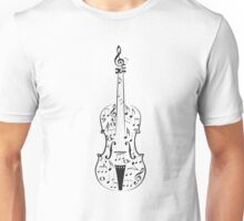 Violin with Notes Unisex T-Shirt