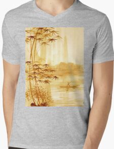 LAKE - landscape art Mens V-Neck T-Shirt