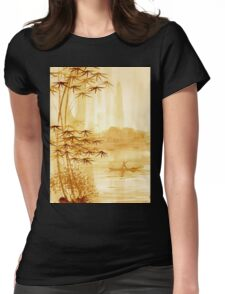 LAKE - landscape art Womens Fitted T-Shirt
