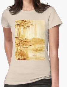 LAKE - landscape art Womens Fitted T-Shirt