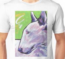 Bull Terrier Dog Bright colorful pop dog art Unisex T-Shirt