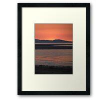 Red seascape Framed Print